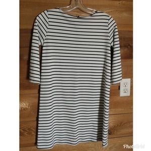 Free People Black & White Striped Long Top/Tunic